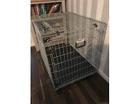 Rosewood options large dog crate 3 months old