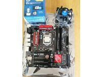 Intel Quad Core i5 3.5Ghz, with gaming motherboard and 16GB RAM.