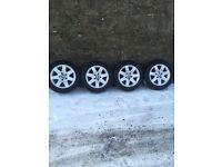 4 Genuine BMW Alloys with Winter Tyres