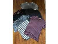 Super dry, river Island and top man tops