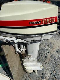 Yamaha P450 25hp long shaft 2 stroke Petrol outboard boat engine motor for parts repair