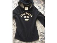 Ladies Abercrombie and fitch hoodie size l navy blue