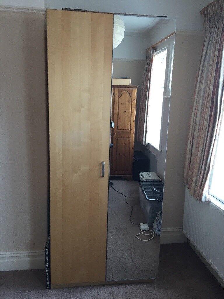 Large IKEA Double Wardrobe 2300x1000x600, mirror door ...