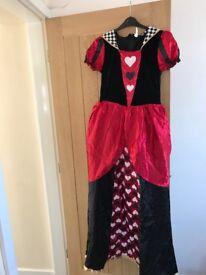 Adults queen of hearts fancy dress