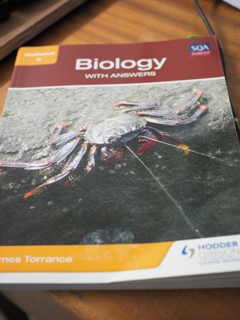 SQA ENDORSED NATIONAL 5 BIOLOGY WITH ANSWERS