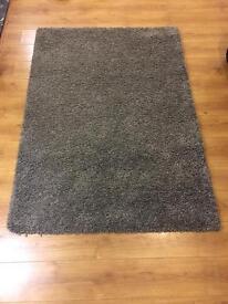 Grey Shaggy Rug 170 x 120