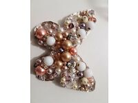 Light swarovski pearls and crystal brooch from local designer shop in Belfast, Una Rodden Couture