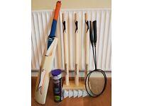Slazenger Wooden Cricket Set + Tennis Balls etc £30