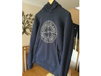 Stone Island Logo Popover Hoody (adult small, suitable for child age from 13)