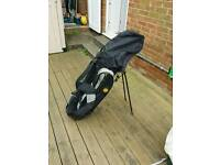 Regal full set golf clubs and recovery woods and bags with shoulder straps