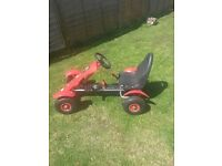 Go cart - chain driven black n red go- cart in as new condition