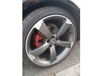 Sell 4×20'audi whells + tyres