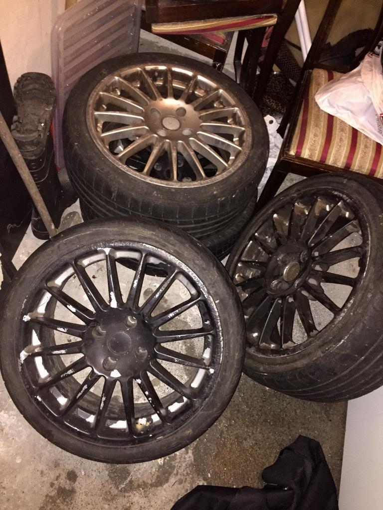 4x108 Alloys with new tyres