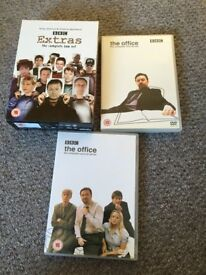 Collection of The Office and Extras DVD's