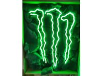 Brand New Monster Energy Real glass neon sign 17inch x 14inch