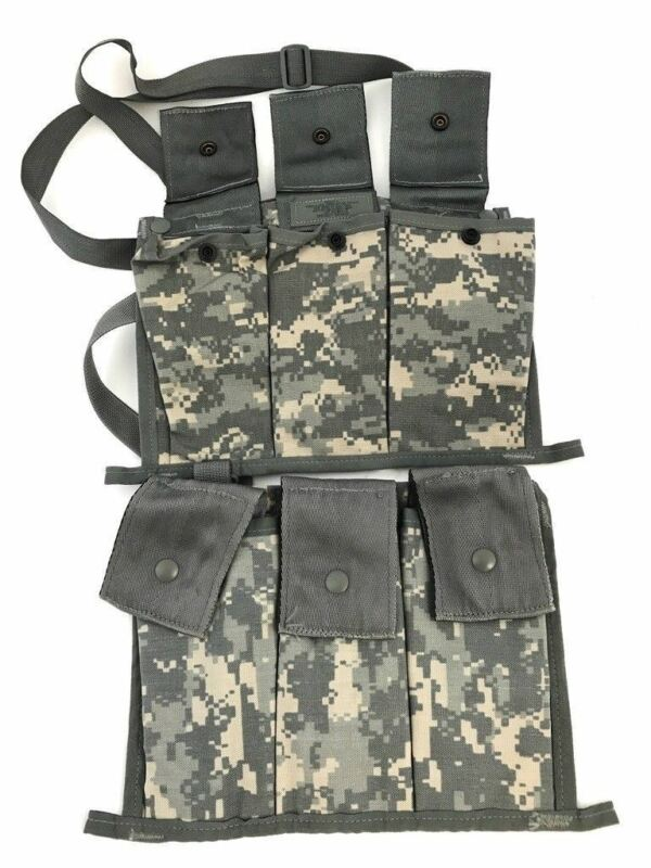 2 ACU 6 Magazine Bandoleer Pouch, MOLLE Mag Pouches Military Army Digital Camo