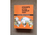 STAMPS OF THE WORLD 1981 BOOK / CATALOGUE