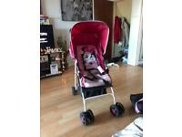 Mama and Pappas mini mouse push chair