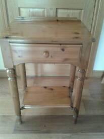 Pine telephone table
