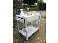 Tea trolley, shabby chic, chalk pain and waxed. Ideal wedding