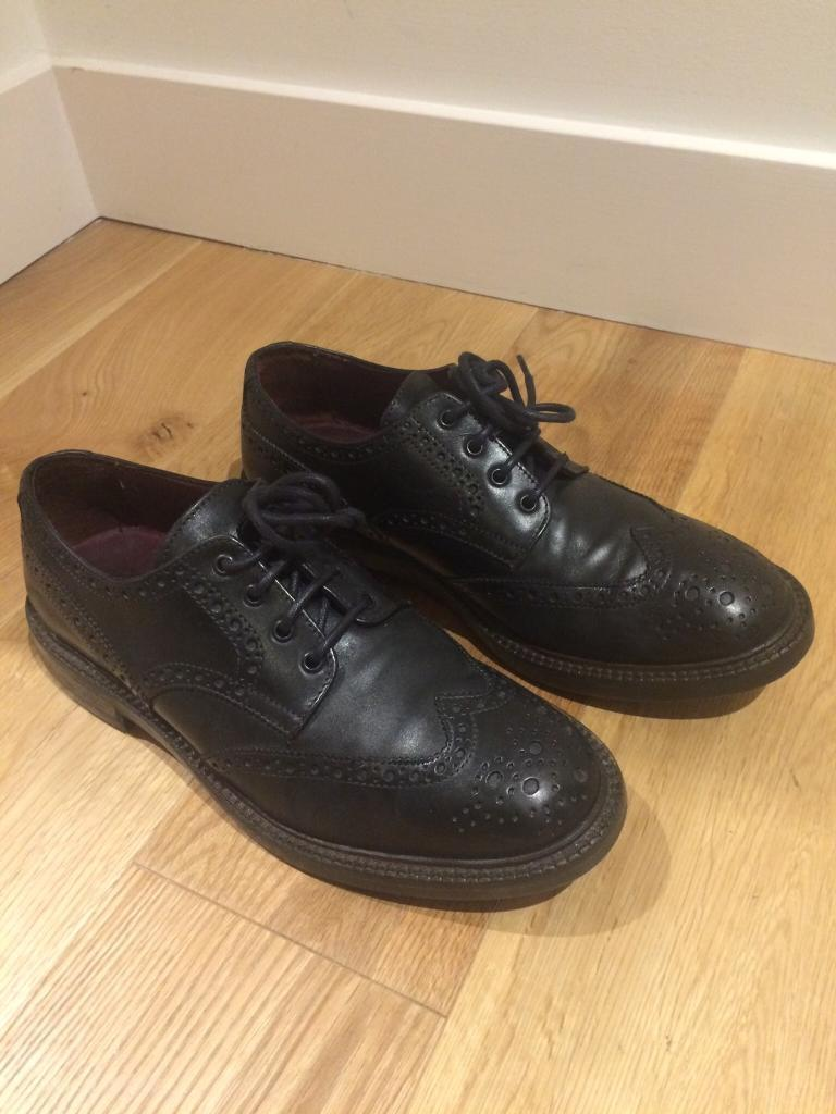 3 x pairs of Men's BLACK Shoes (smart formal and casual use) - POSTE/CLARKS UK 9 (EU 43)