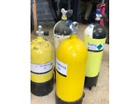 Scuba diving air tanks