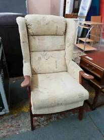 High back armchair with available delivery