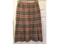 Vintage Burberry check skirt