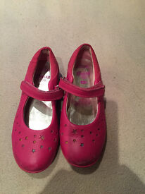 Clarkes Daisy Pink (and Stars) Girls Shoes, Size 11G, Good Condition, £6