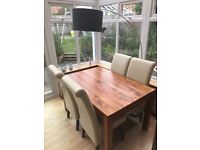 Table & Chairs for sale. four chairs & dark wood table.