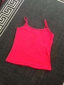 Size 14 pink stretch vest
