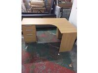 Large Corner Desk - Oak Effect