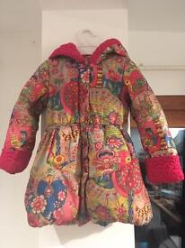 Oilily Down Feather Winter Coat, 3-4 years