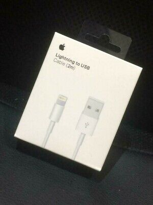 Genuine 2M Apple Lightning USB Charger Lead Cable For iPhone X 7 6 5