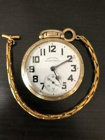 Stunning Hamilton 992B Railway Special 10k Gold Filled Pocket Watch & Chain