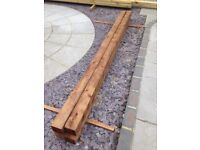 3 @ 9ft x 4inch x 4inch Treated Fence Posts (2700x100x100mm)