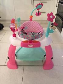 Baby bouncer pink and white