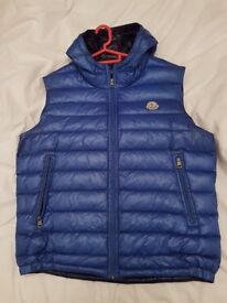 Like New Genuine Moncler Body Warmer/Gilet - Blue - Size: M/L - Size: 4 * CHEAP - Comes with Tags *