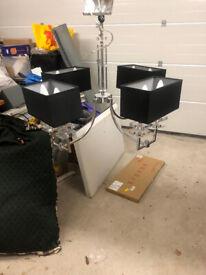 Ceiling light - 8 drum light shades Silver finish Wayfair £150