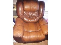 Brown leather recliners 3 2 1