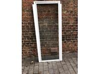 Shower door and frame white aluminium