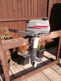 YAMAHA 3HP MALTA 2 STROKE OUTBOARD , DINGHY TENDER RIB SIB SAILING FISHING BOAT
