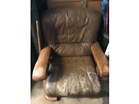Vintage leather armchair (x2)
