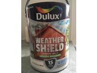 Deluxe Weather Sheild Smooth Masonary Exterior Paint (White)