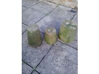 Antique Stone Mushroom Bases and Mill Stones