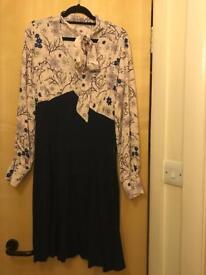 Floral & Navy Dorothy Perkins Dress - size 10