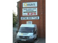 MAN AND VAN SERVICE, SINGLE ITEMS TO FULL LOADS, FROM £25, FRIENDLY RELIABLE SERVICE.