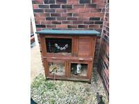 Booth gone now .. Rabbit hutch x2