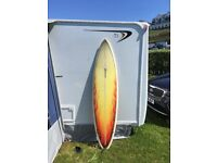 Gulfstream 7ft custom shaped hybrid surf board with bag and fins