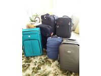 Selection of suitcases different types